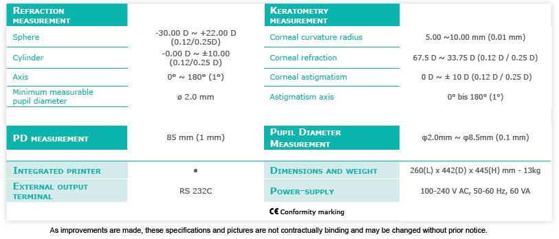 AKR 550 Specs
