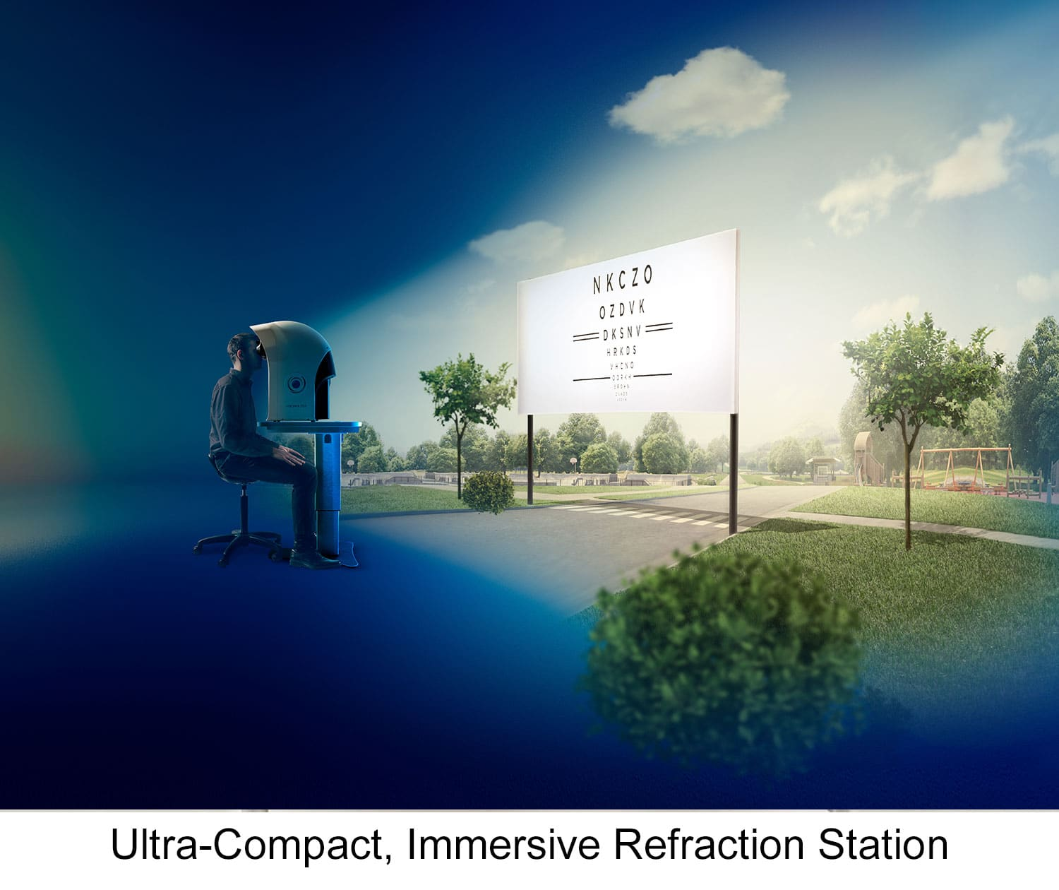 Ultra-Compact, Immersive Refraction Station